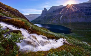Mountain-stream-Mountain-Sky-Sun
