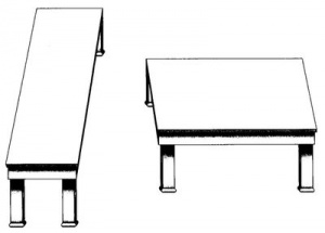 Can these 2 tables really be the same size? Get out your ruler and find out!