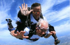 100 year-old's birthday skydive